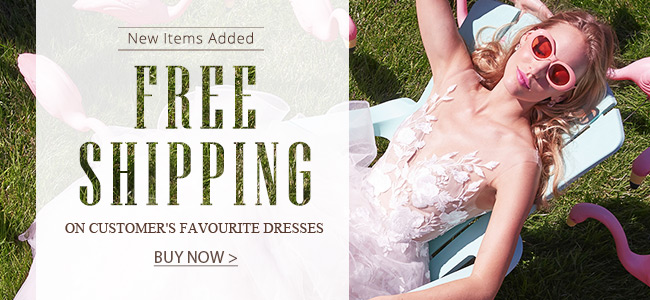 Free shipping for hot bridal & formal dresses